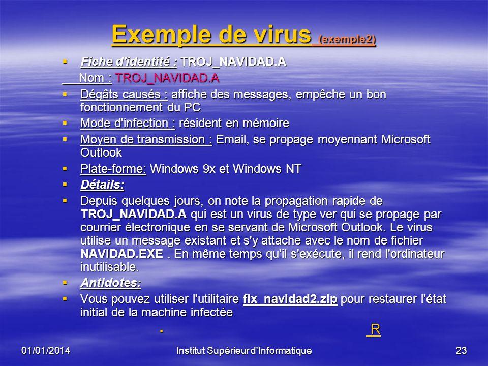 Exemple de virus (exemple2)