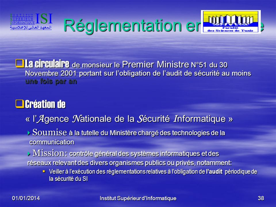 Réglementation en Tunisie