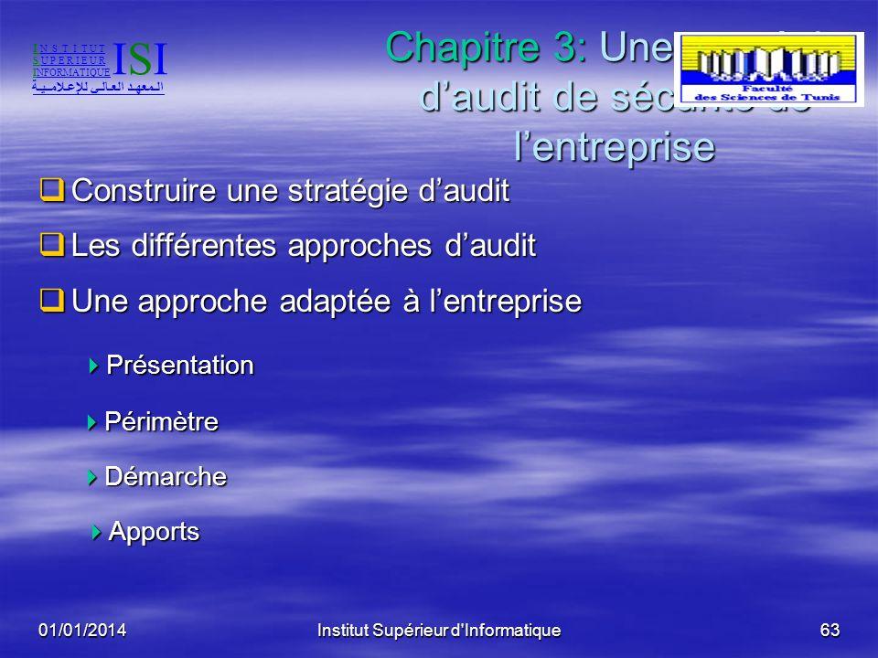 Chapitre 3: Une stratégie d'audit de sécurité de l'entreprise