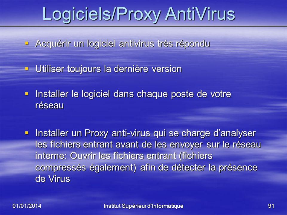 Logiciels/Proxy AntiVirus