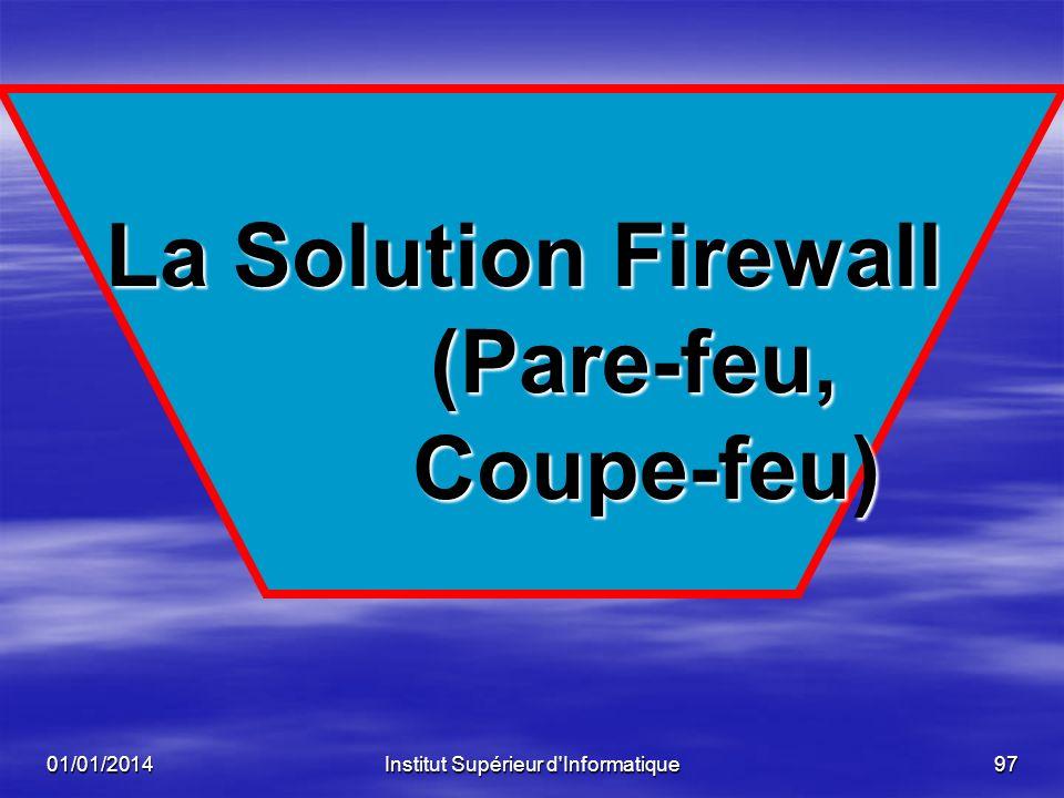 La Solution Firewall (Pare-feu, Coupe-feu)