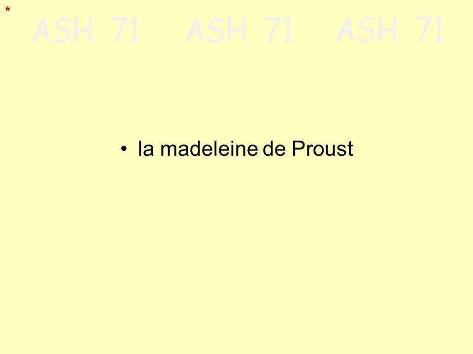 * la madeleine de Proust