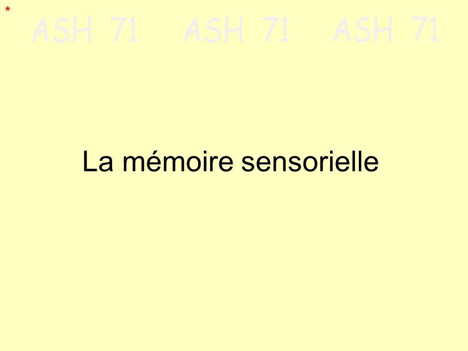 La mémoire sensorielle