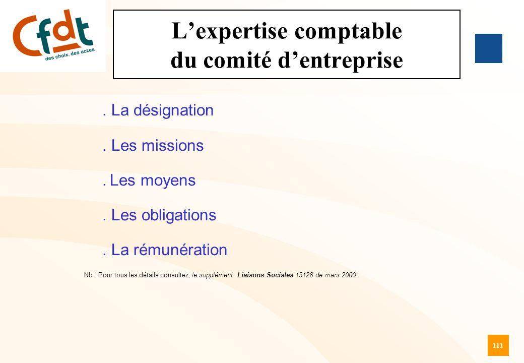 L'expertise comptable du comité d'entreprise