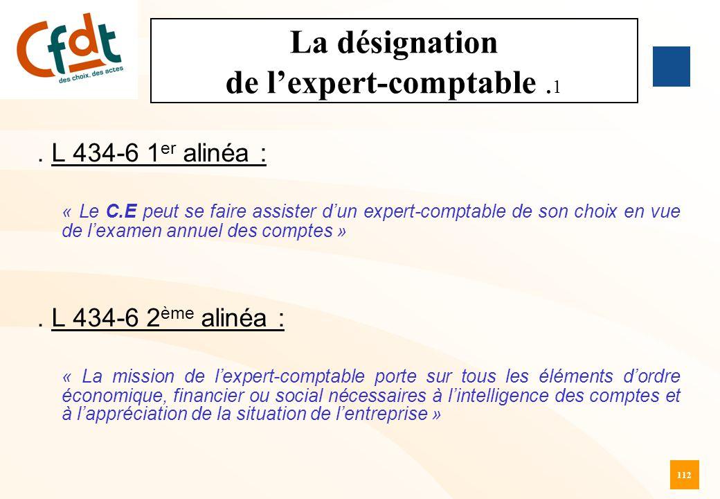 La désignation de l'expert-comptable .1