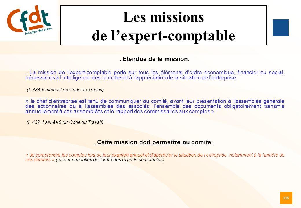 Les missions de l'expert-comptable