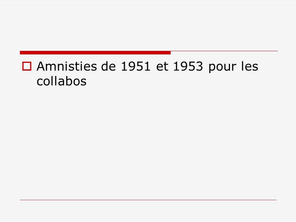 Amnisties de 1951 et 1953 pour les collabos