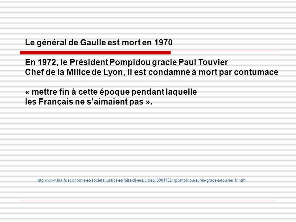 Le général de Gaulle est mort en 1970