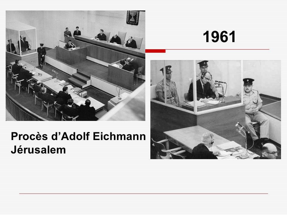 1961 Procès d'Adolf Eichmann Jérusalem