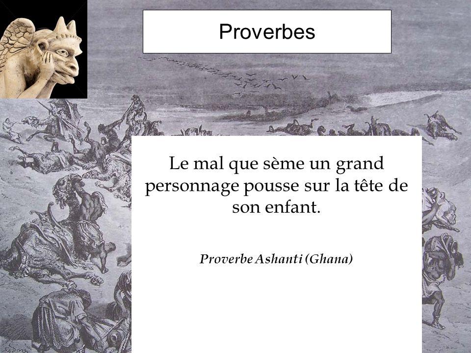Proverbe Ashanti (Ghana)