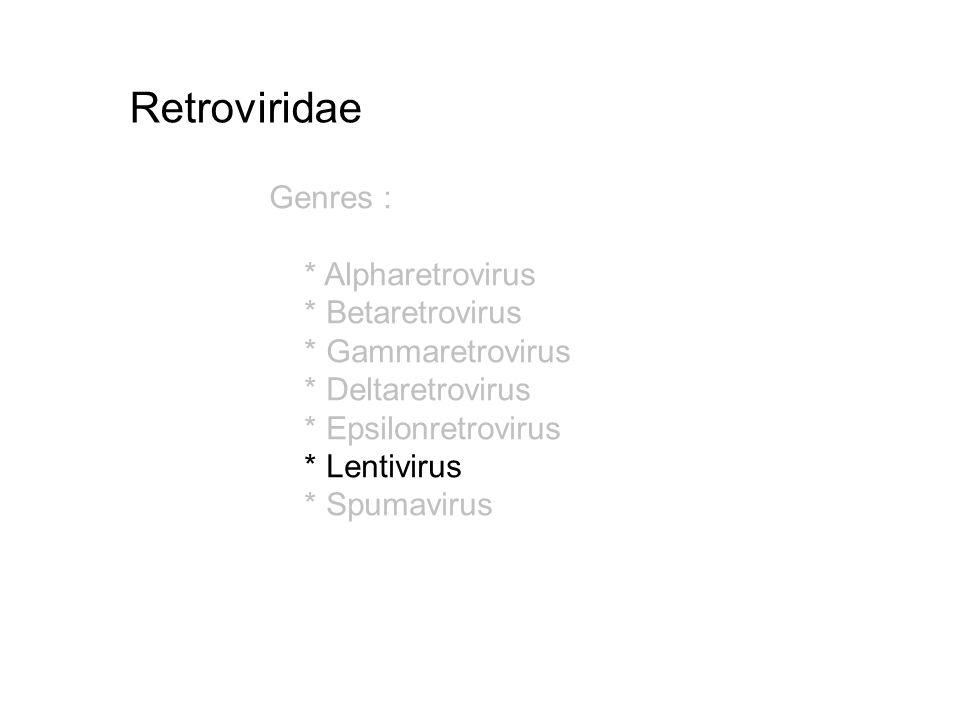 Retroviridae Genres : * Alpharetrovirus * Betaretrovirus