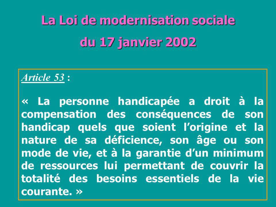 La Loi de modernisation sociale du 17 janvier 2002