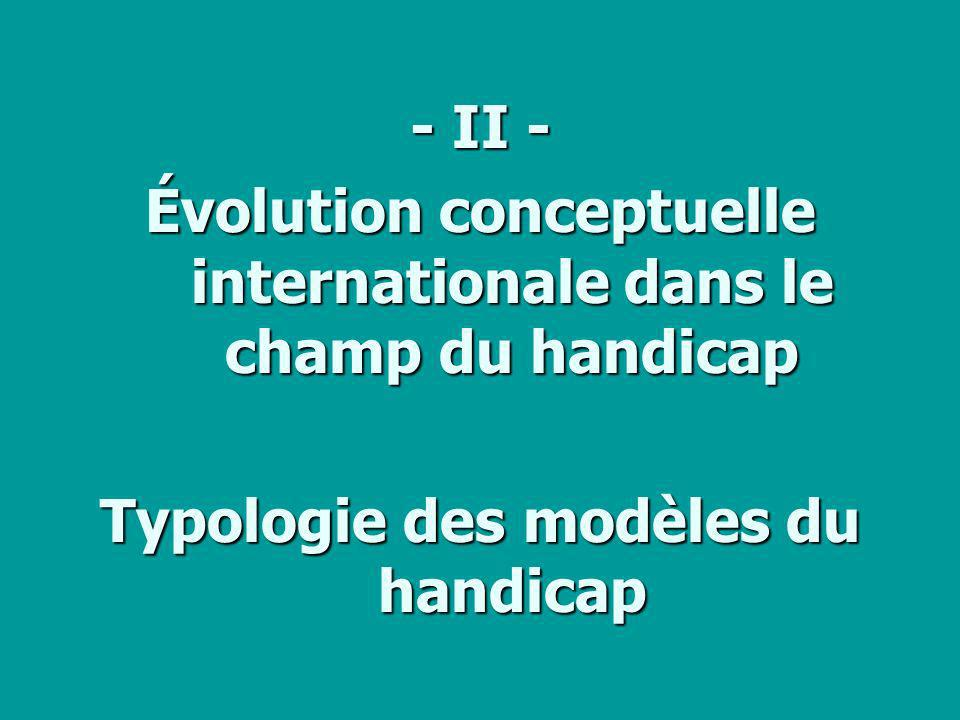 Évolution conceptuelle internationale dans le champ du handicap