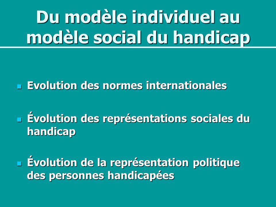 Du modèle individuel au modèle social du handicap