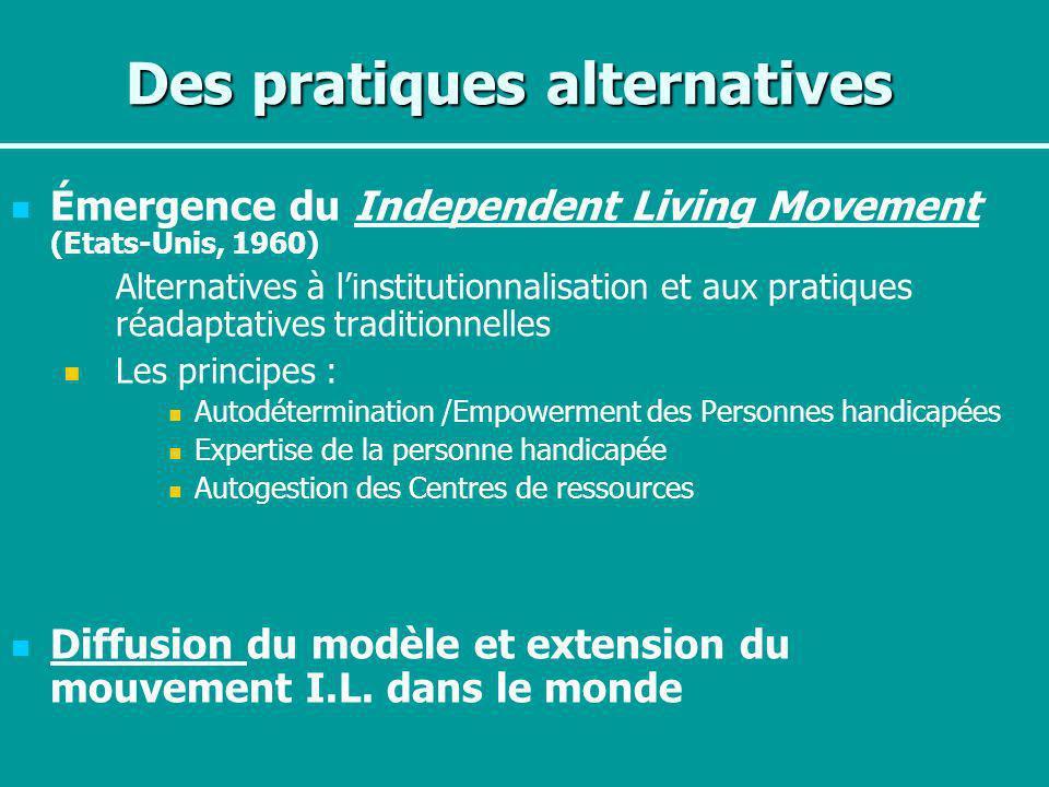 Des pratiques alternatives