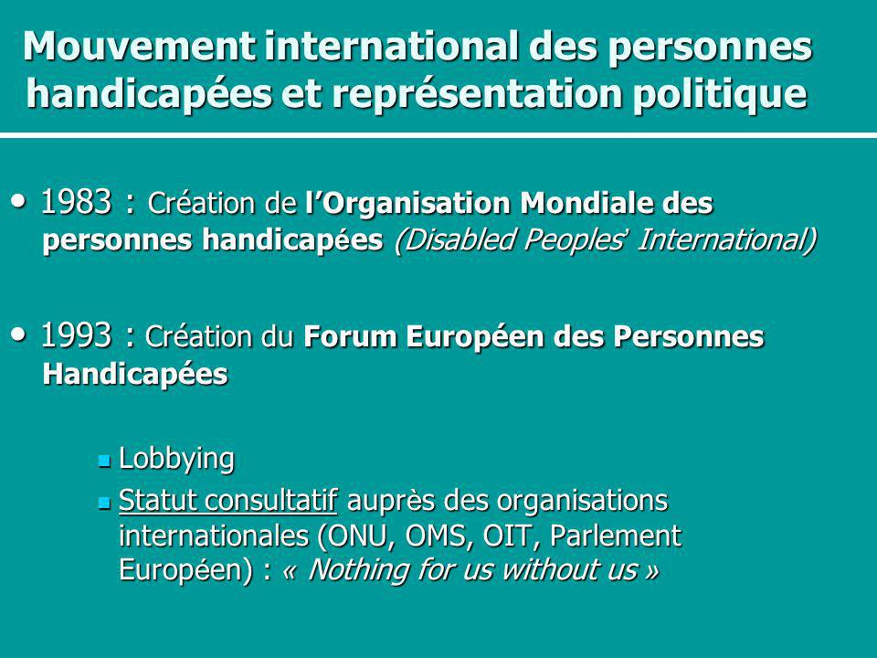 • 1993 : Création du Forum Européen des Personnes Handicapées