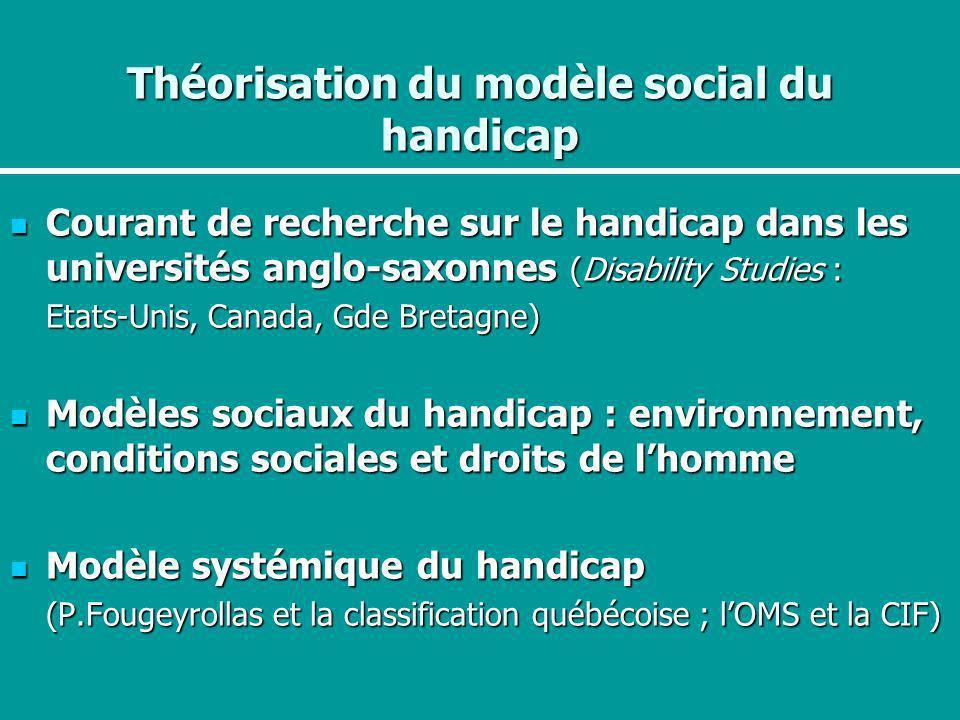 Théorisation du modèle social du handicap
