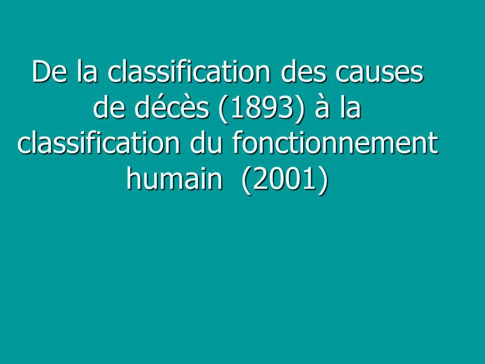 De la classification des causes de décès (1893) à la classification du fonctionnement humain (2001)