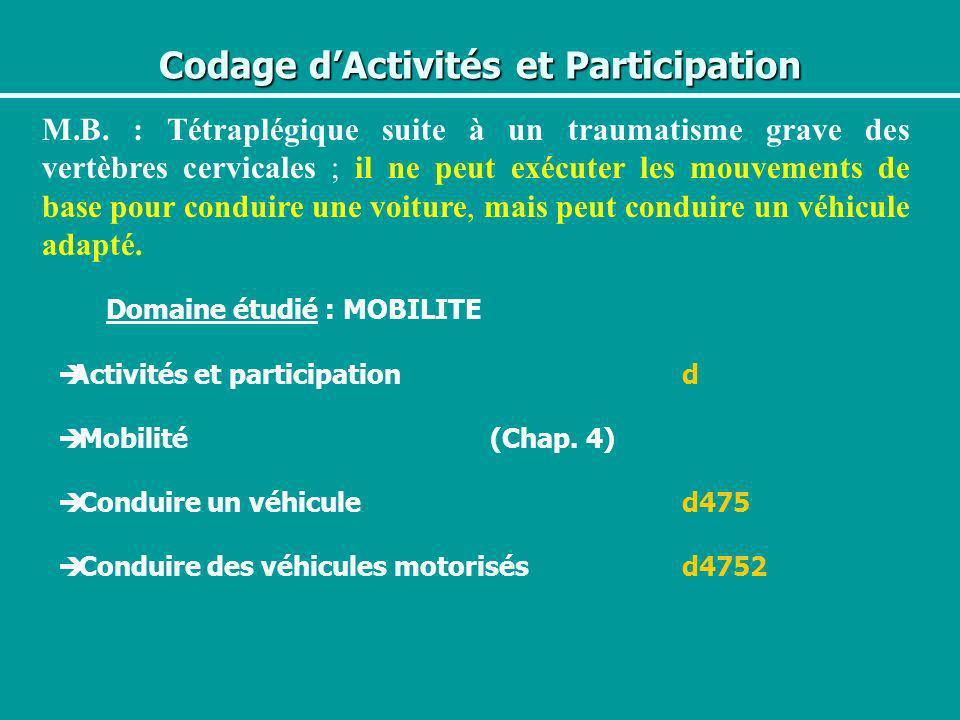 Codage d'Activités et Participation