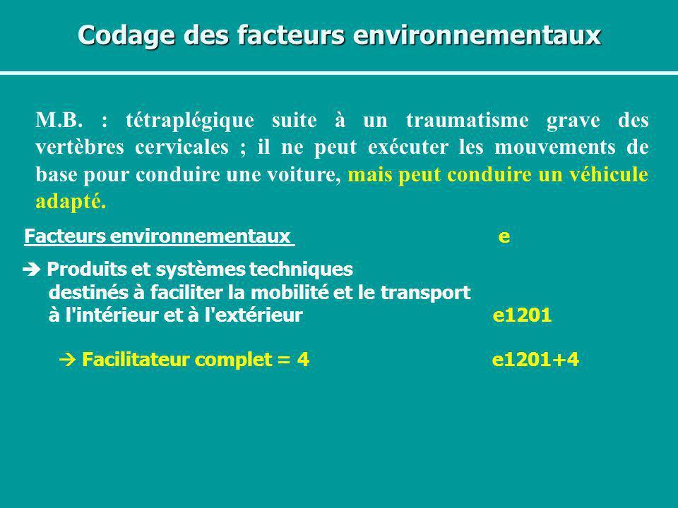 Codage des facteurs environnementaux