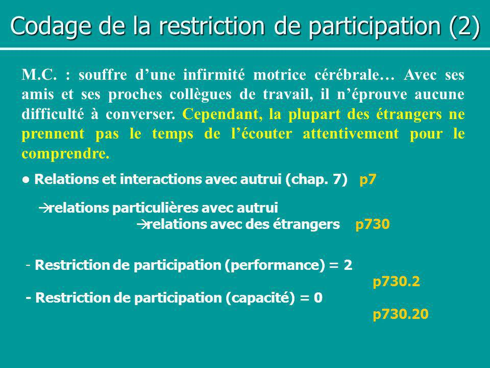 Codage de la restriction de participation (2)