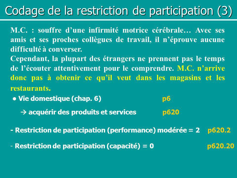 Codage de la restriction de participation (3)