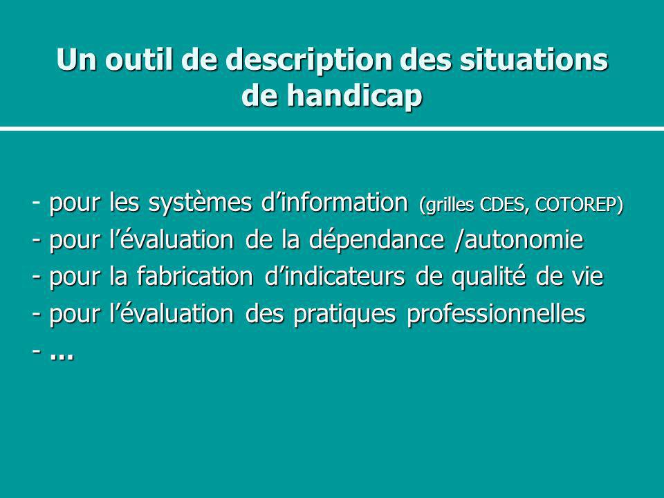Un outil de description des situations de handicap
