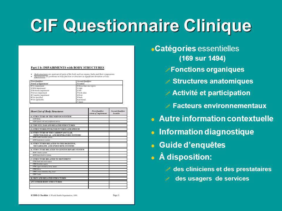 CIF Questionnaire Clinique