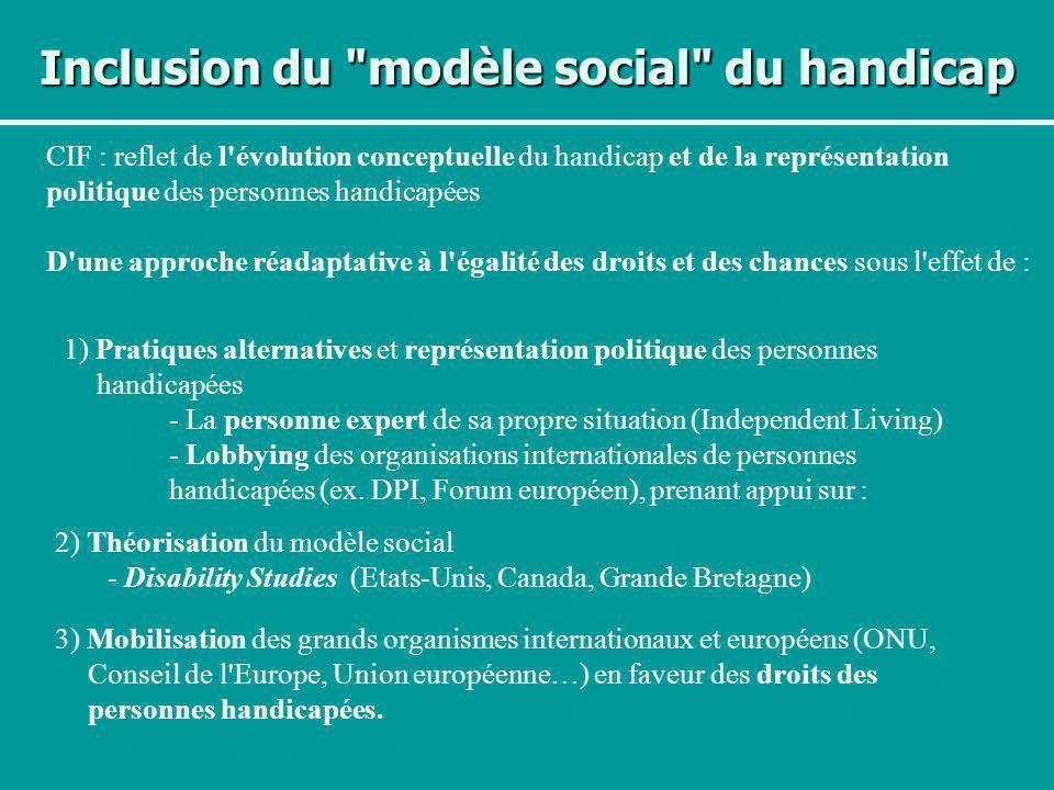 Inclusion du modèle social du handicap