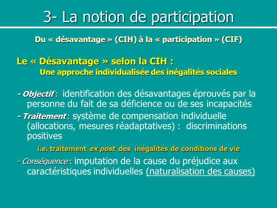 3- La notion de participation