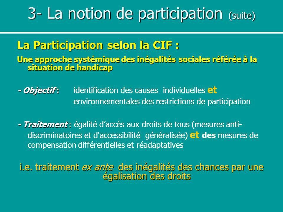 3- La notion de participation (suite)