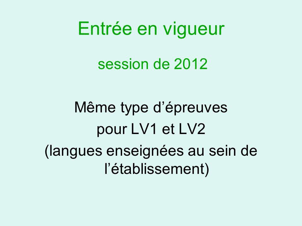 (langues enseignées au sein de l'établissement)