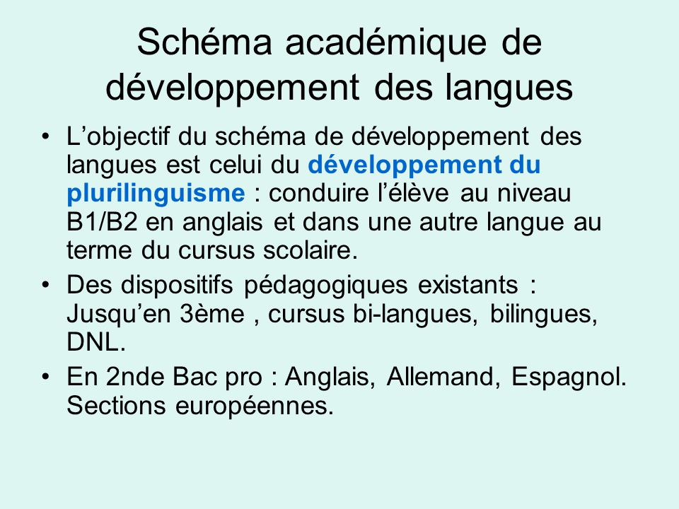 Schéma académique de développement des langues