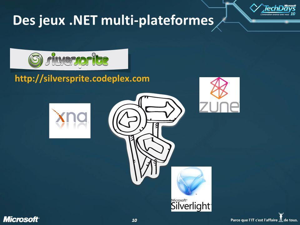 Des jeux .NET multi-plateformes