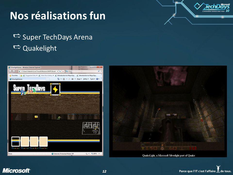 Nos réalisations fun Super TechDays Arena Quakelight