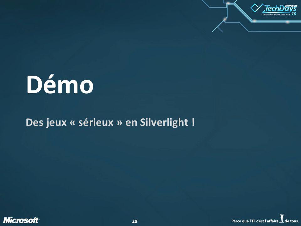Des jeux « sérieux » en Silverlight !