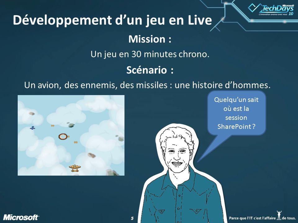 Développement d'un jeu en Live
