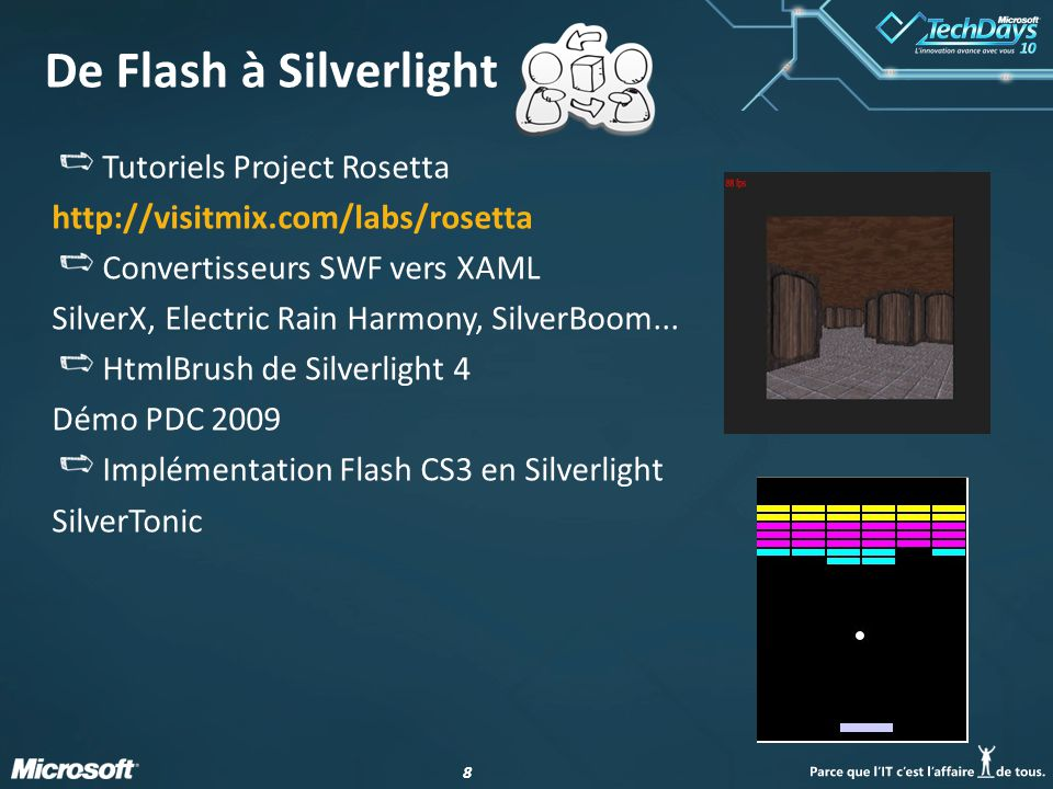 De Flash à Silverlight Tutoriels Project Rosetta