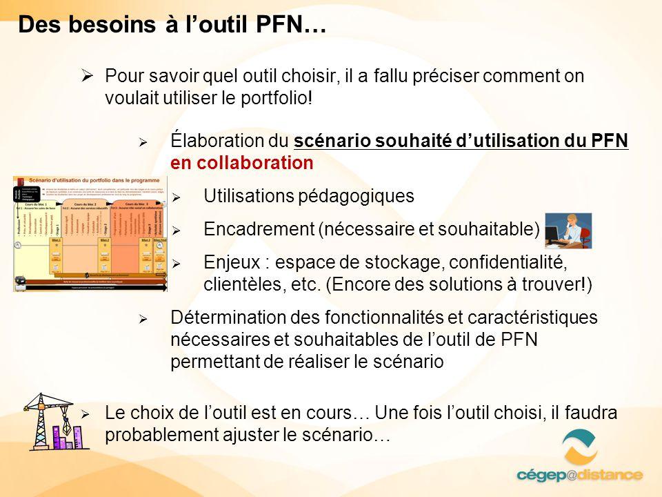 Des besoins à l'outil PFN…