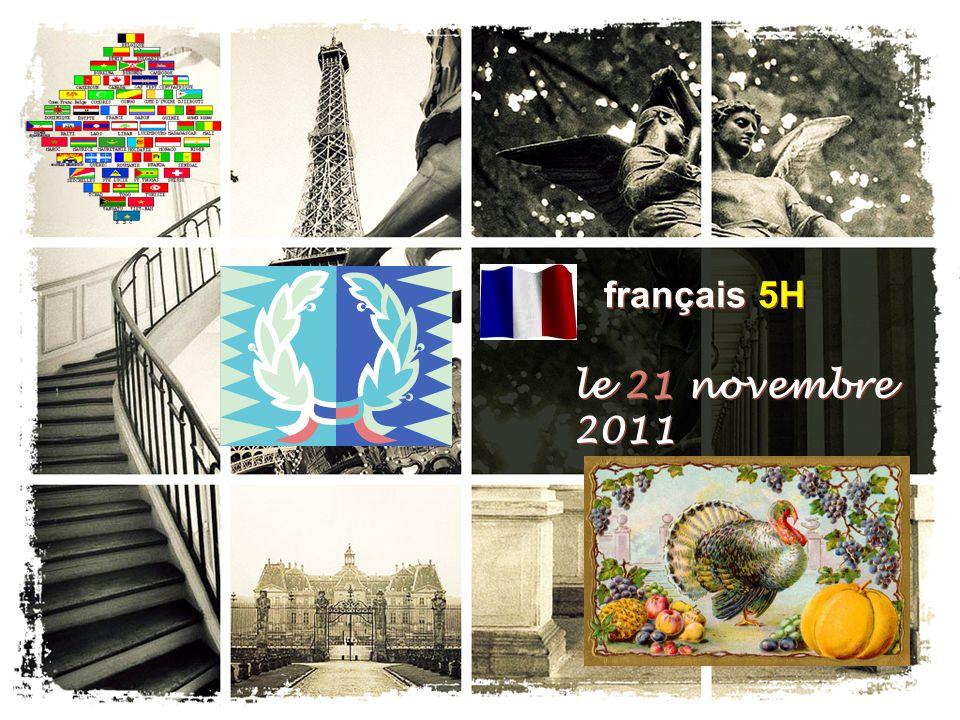 français 5H le 21 novembre 2011
