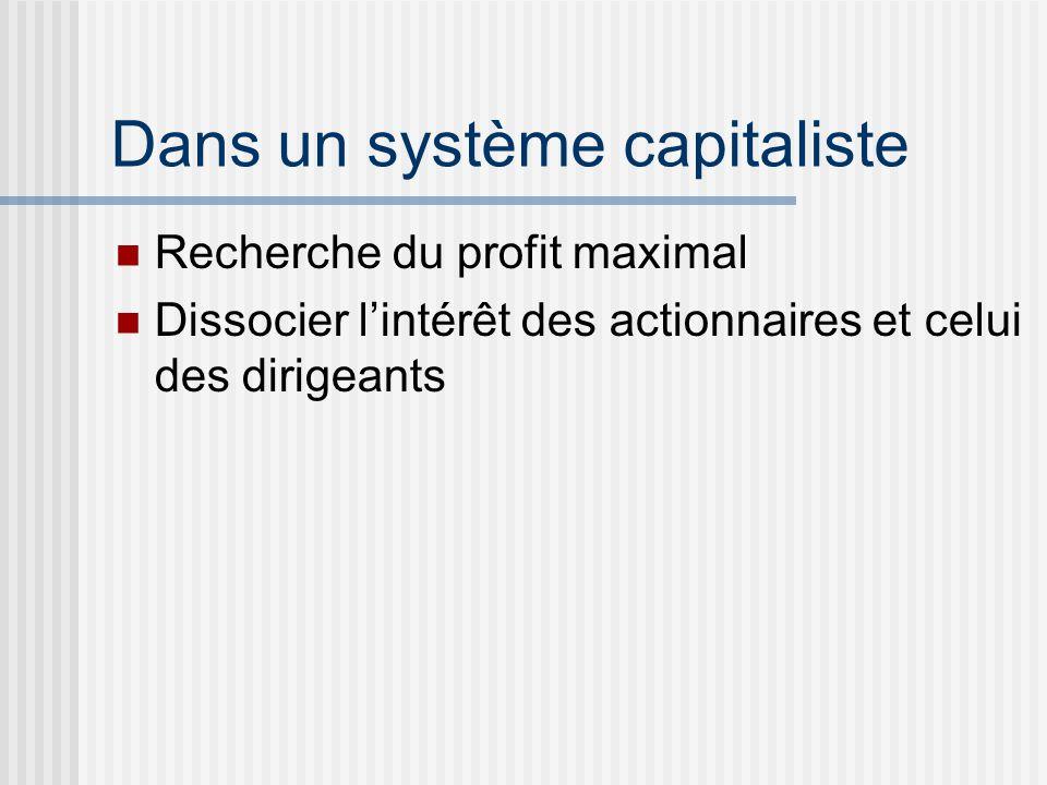 Dans un système capitaliste