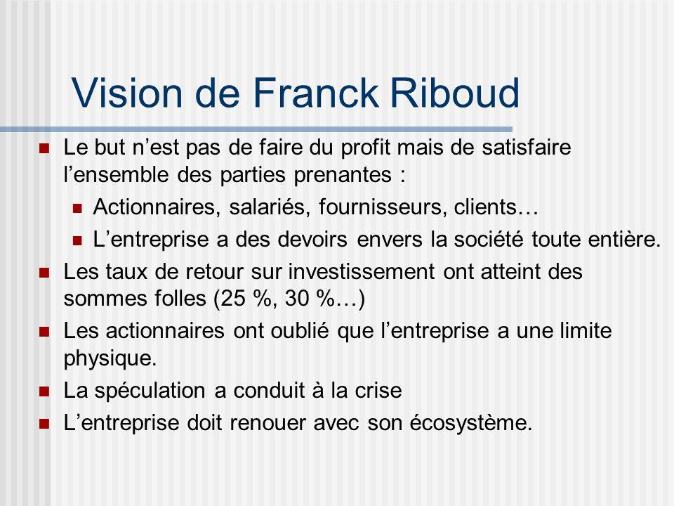 Vision de Franck Riboud