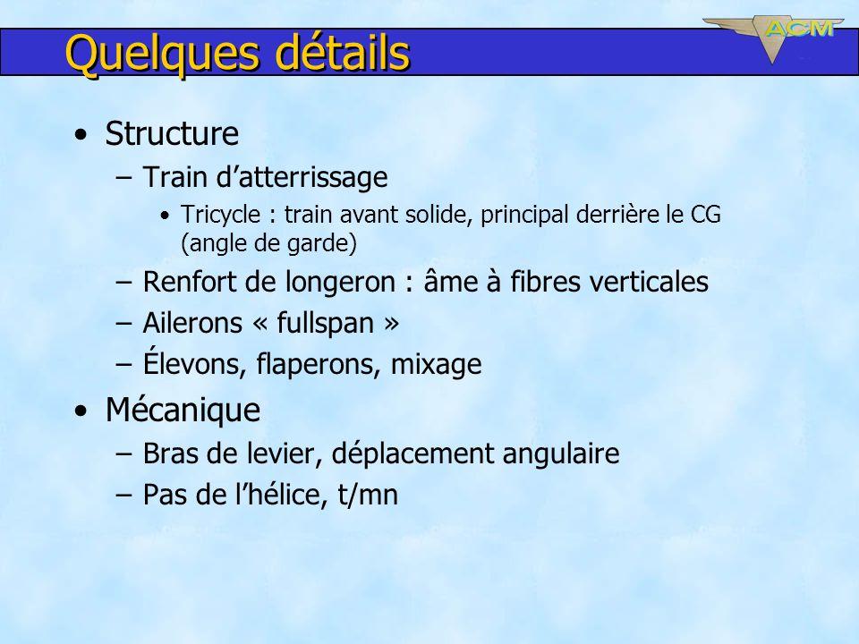 Quelques détails Structure Mécanique Train d'atterrissage