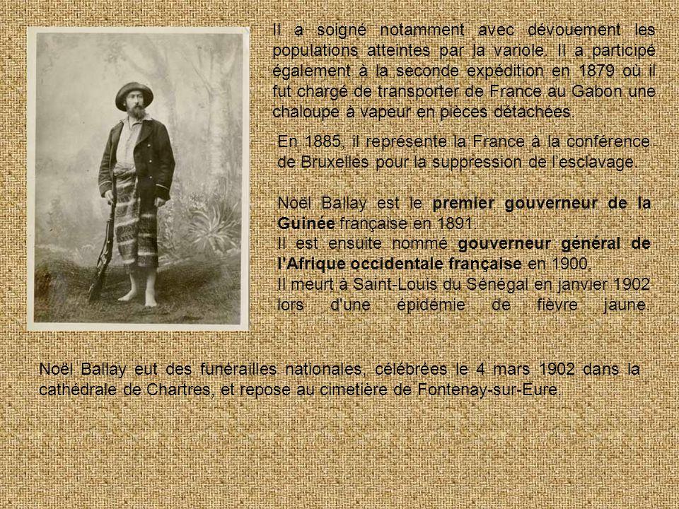 Il a soigné notamment avec dévouement les populations atteintes par la variole. Il a participé également à la seconde expédition en 1879 où il fut chargé de transporter de France au Gabon une chaloupe à vapeur en pièces détachées.