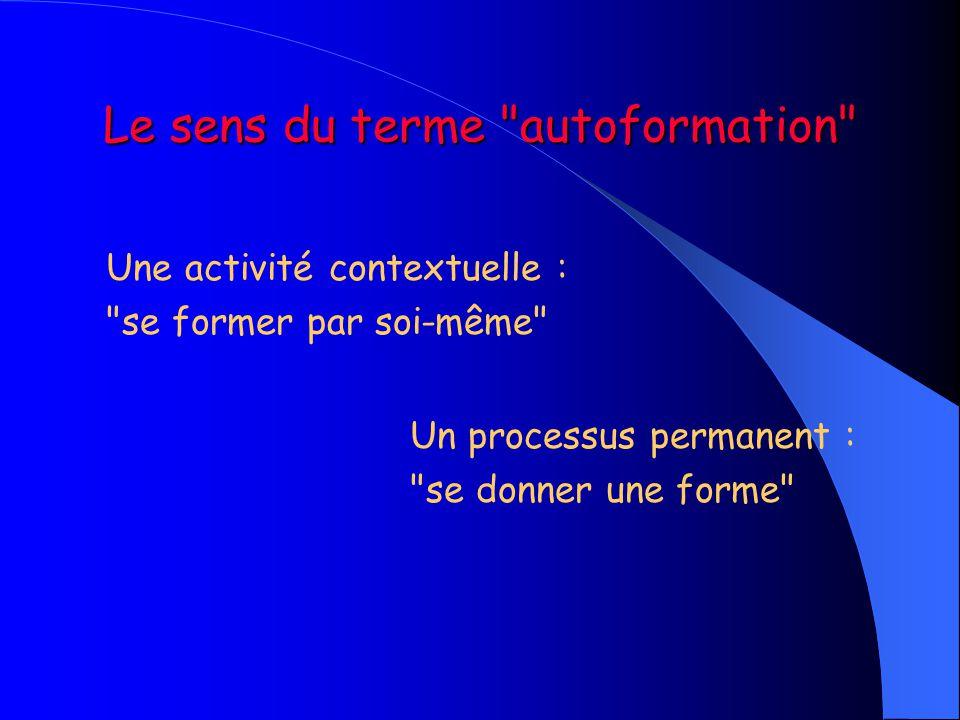 Le sens du terme autoformation