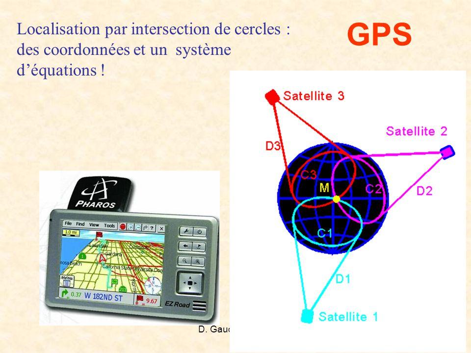 GPS Localisation par intersection de cercles : des coordonnées et un système d'équations !