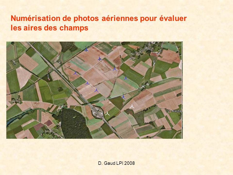 Numérisation de photos aériennes pour évaluer les aires des champs