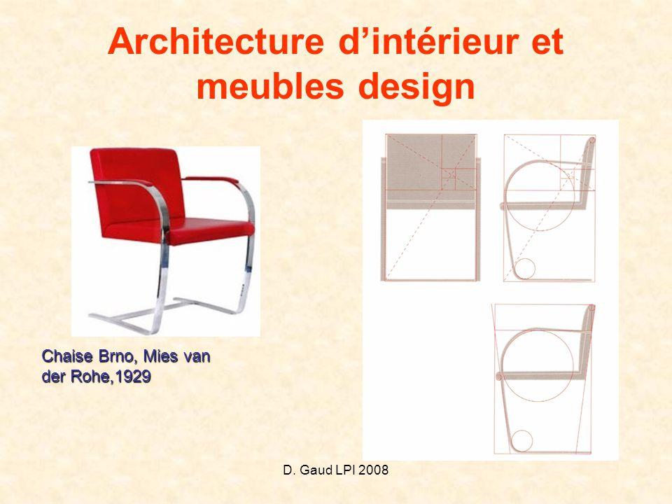 Architecture d'intérieur et meubles design
