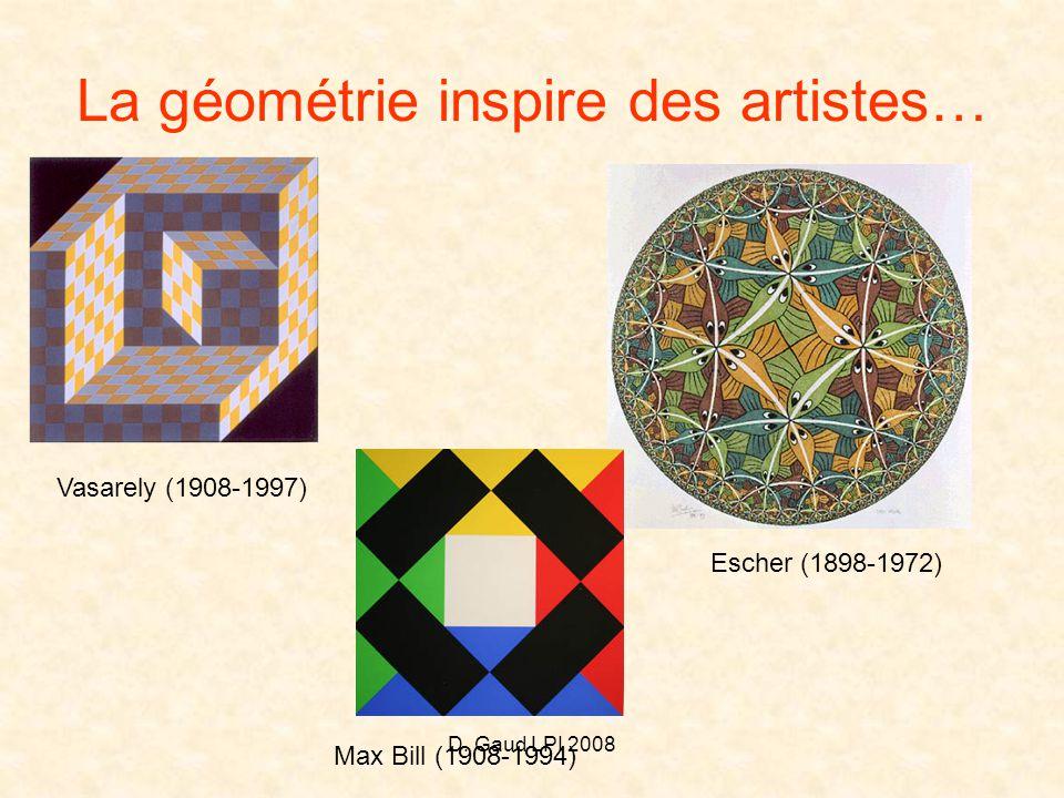 La géométrie inspire des artistes…