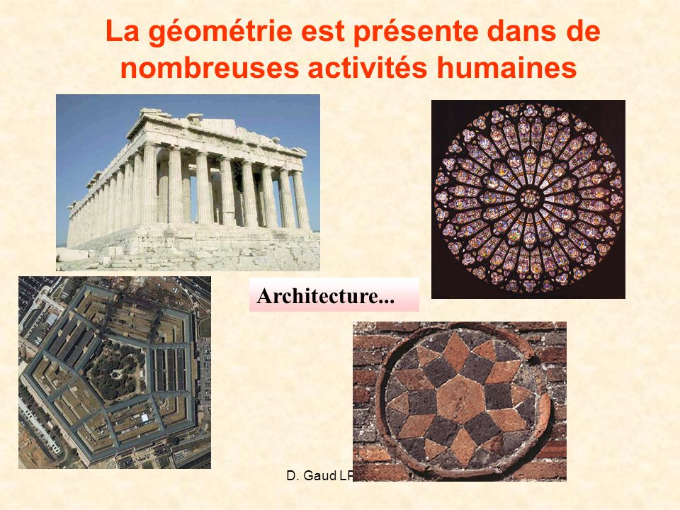 La géométrie est présente dans de nombreuses activités humaines